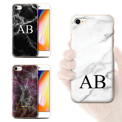 Personalized Custom Initials Marble Phone Case For Apple Iphone Hard Cover