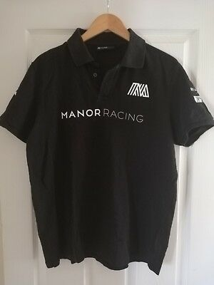 Manor Marussia F1 Polo Shirt Pit Crew Issue Top Size Large.