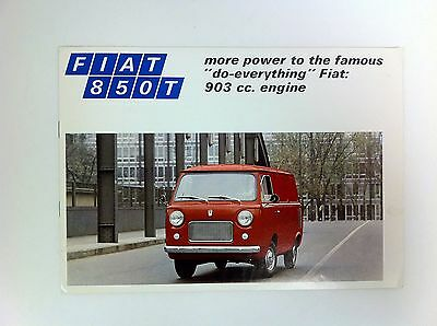 Fiat 850T Van Brochure Great Condition Original - #(F-33)