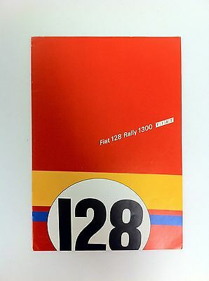 1973 Fiat 128 Rally 1300 Brochure German - #(F-38)