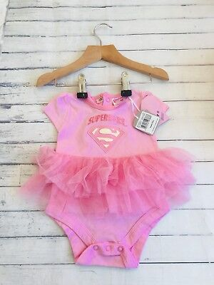 Baby Girls Clothes Newborn  - Pretty Superbaby Tutu Vest Top Outfit - New