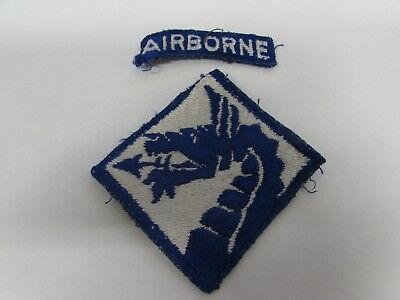 WWII era Army XVIII Airborne Corps patch with tab sewn.