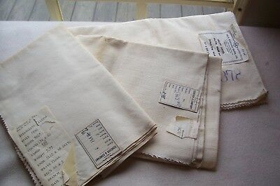 Vtg 100% Cotton Early Broadcloth LOT of Three Sewing Dolls