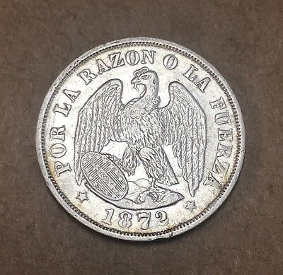 1872, Chile 20 Cents