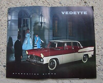 N° 11204 / grand catalogue SIMCA  VEDETTE  beaulieu  chambord  marly 1959