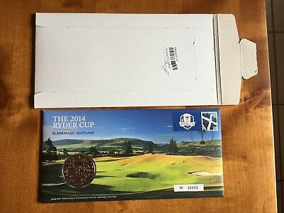 2014 Ryder Cup (Gleneagles, Scotland) Medallion Issued By Uk Royal Mail
