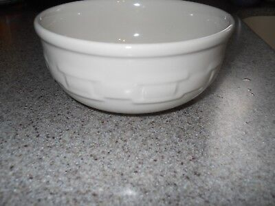 Longaberger Ivory Pottery Woven Traditions Cereal Soup Bowl EUC