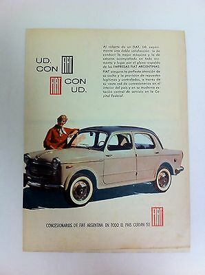 1961 FIAT 1100 Advertisement From Argentina Argentine - #(F-50)