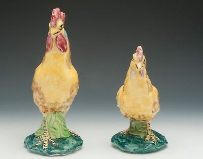 Stangl Rooster & Hen #345 & #3446 Circa 1940-1958