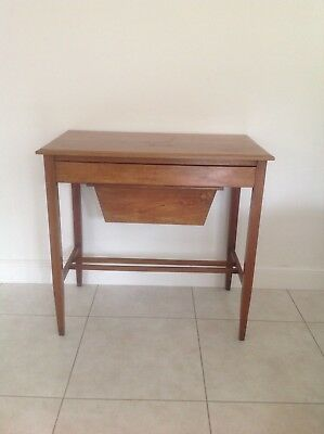 Edwardian Sewing / Craft Table - Mahogany