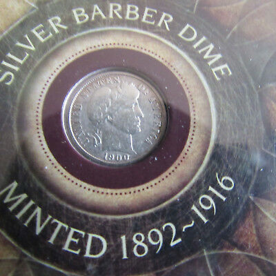 1900 - Barber SILVER Dime - Very Good