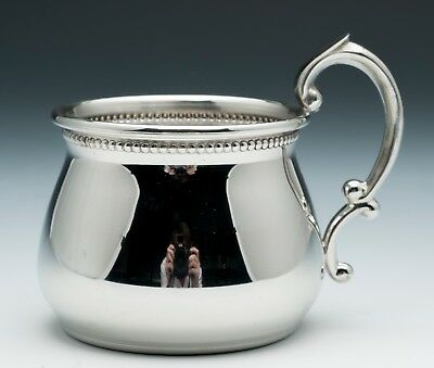 #899B Pewter Beaded Pot Belly Cup by Empire -NIB