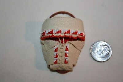 Miniature Dollhouse Native American Realistic Papoose Baby Carrier Artisan 1:12