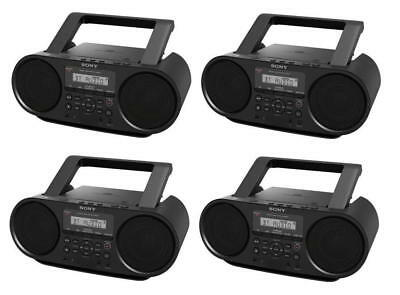 Set of 4 Sony ZSRS60BT CD Boomboxes W/ Bluetooth NFC AM/FM USB Headphone/Line-in
