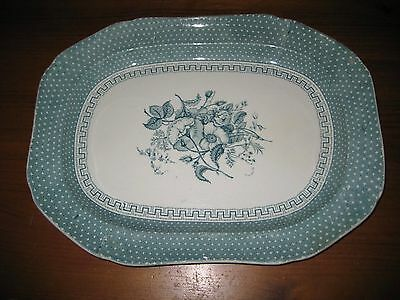 ANTIQUE TRANSFERWARE TURKEY SERVING PLATTER  T. DIMMOCK & SONS c1828-1859 LARGE