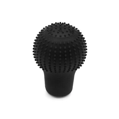 Silicone 5 Speed Round Shape Car Nonslip Gear Shift Knob Cover Protector Black