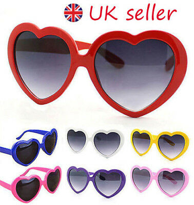 771f0b11372b5 Retro Lolita Love Heart Shaped Sunglasses Large Fashion Fancy Dress Hen  Party