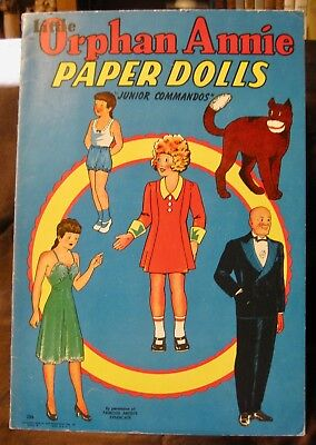 Vintage Original Uncut Saalfield Little Orphan Annie Junior Commandos Paper Doll