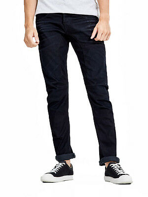 85e2f541fa9f9f JACK & JONES Jeans Mens Stan Anti Fit Regular Leg Denim Pants Indigo Dark  Blue