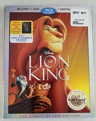 New Disney Lion King Blu-Ray DVD and Digital HD Copy W/ Slip Cover Sealed