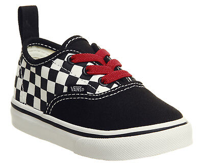 a42d0435ba Kids Vans Authentic Toddlers Trainers Black Red True White Checkerboard Kids