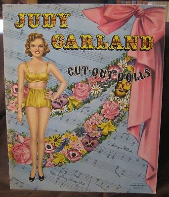 Vintage Original Uncut Whitman 1945 Judy Garland Cut-Out Paper Dolls #996