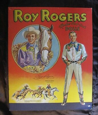 Vintage Original Uncut Whitman 1948 Roy Rogers Rodeo Cut-Out Paper Dolls #995