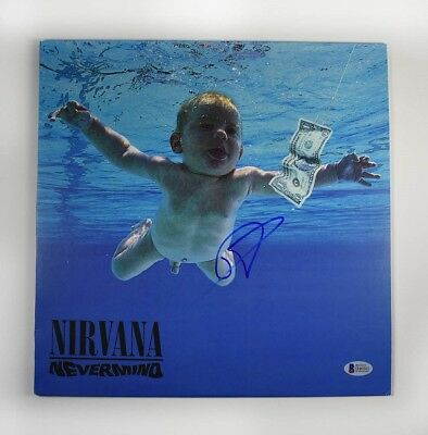 Dave Grohl Nirvana Nevermind Autographed Signed Album LP Record BAS COA AFTAL