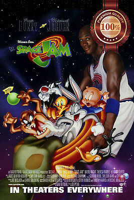 NEW SPACE JAM 1996 90s OFFICIAL ORIGINAL CINEMA MOVIE FILM PRINT PREMIUM POSTER