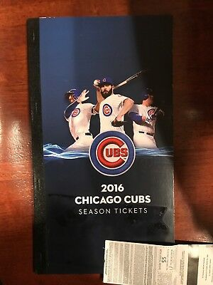 2016 Chicago Cubs Full Season Ticket Book Historic World Series All 81 Hm Games