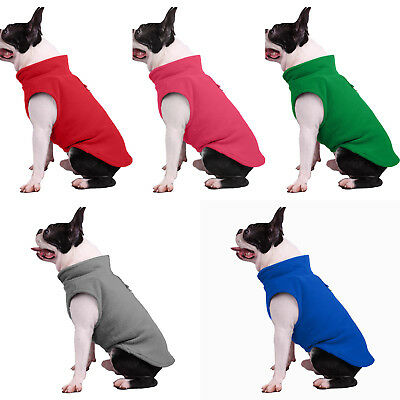 US Stock Pet Dogs Fleece Harness Vest Jumper Sweater Coat Jacket Plus size S-XXL