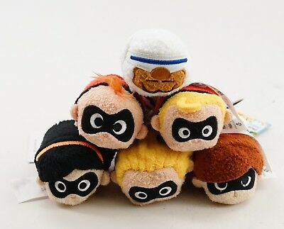 New Disney Parks The Incredibles 2 Authentic Tsum Tsum Set Of 6 Plush