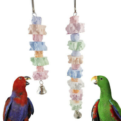 Parrot Pet Bird Chew Hanging Cage Toys Wood Large Rope Cave Ladder Chewing Toys