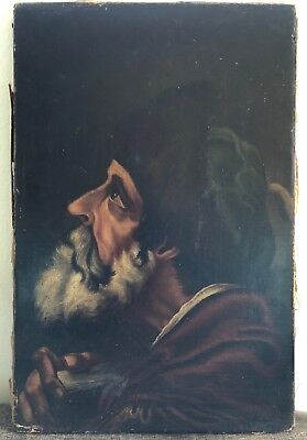17th C. ORIGINAL OIL PORTRAIT PAINTING SCHOLAR RENAISSANCE MAN TUDOR HAT