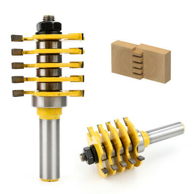 """1/2"""" Shank Adjustable Box & Finger Joint Router Bit Woodworking Cutter Tools New"""