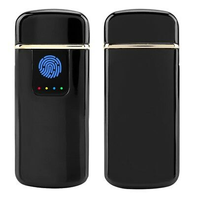 USB Rechargeable Fingerprint Touch Plasma Electric Lighter Windproof Flameless d