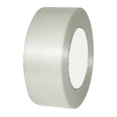 """8 Rolls Economy Filament Strapping Tape 3"""" x 60 Yards 3.9 MIL Reinforced"""