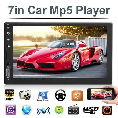 "2Din 7"" Touch Screen Car Stereo MP5 Player FM Radio Bluetooth w/ Rearview Camera"