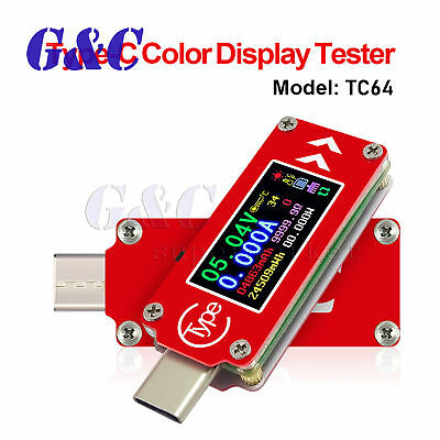TC64 Color LCD PD Type-C USB Tester Voltage Current Capacity Detector Meter