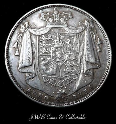 1834 William IV Silver Halfcrown Coin Nice Condition - Great Britain