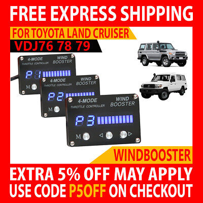 Wind Booster Electronic Throttle Controller Toyota Land Cruiser Vdj76 78 79