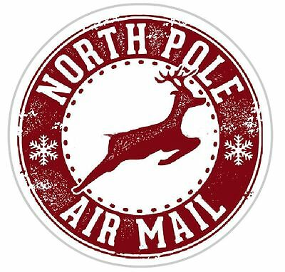 Christmas Sweet Cone/Envelope/Present Stickers north pole