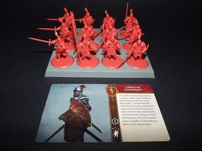 A Song of Ice and Fire Tabletop Miniatures Game Lannister Guardsmen Unit