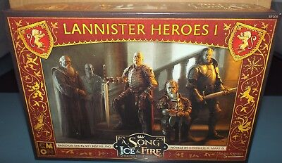 A Song of Ice and Fire Tabletop Miniatures Game Lannister Hero's 1