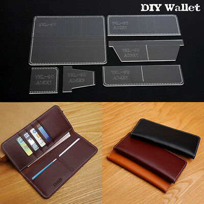 DIY Business Acrylic Long Wallet Template Leather Craft Pattern Stencil YKL-90