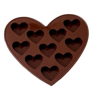 10 Sweet Hearts Shell Silicone Chocolate Cookie Mould Baking Christmas Jelly 6A