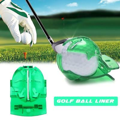 Golf Ball Line Clip Liner Marker Template Alignment Marks Tool Putting Aid Hot