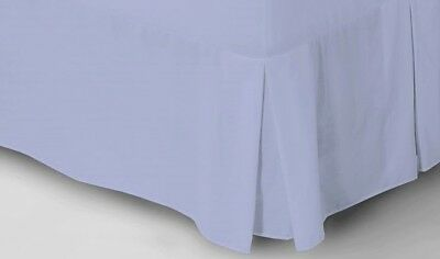 Catherine Lansfield Non Iron Combed Polycotton Base Valance Pleated Blue Sheet