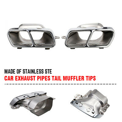 1 Pair Exhaust Pipes Tail Muffler Tips Fits 05-11 12 Mercedes Benz W221 W164 AMG