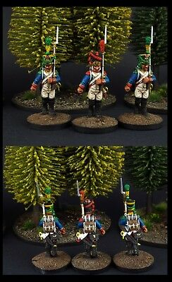 28mm Napoleonic French Warlord Games Sample Figures Well Painted.